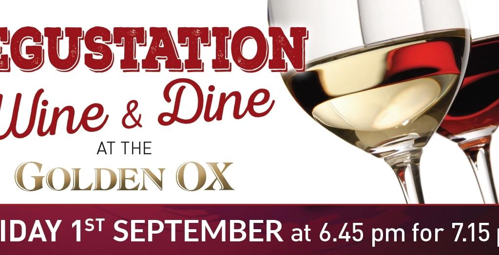 5 Course Wine Degustation Dinner – September at The Golden Ox