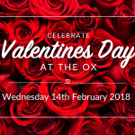 Valentines Day 2018 at The Golden Ox Restaurant