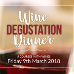 Wine Degustation Menu March