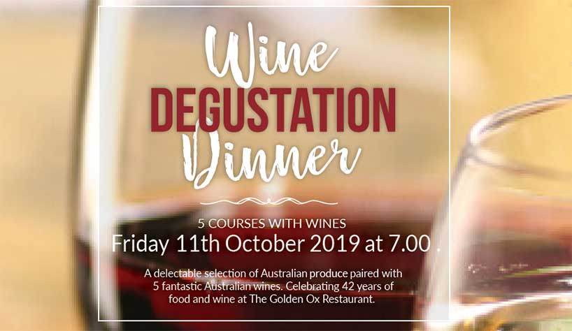 5 Course Wine Degustation – Friday 11th October